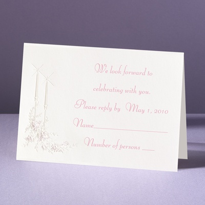 Candlelight - Response Card and Envelope