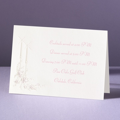 Candlelight - Reception Card