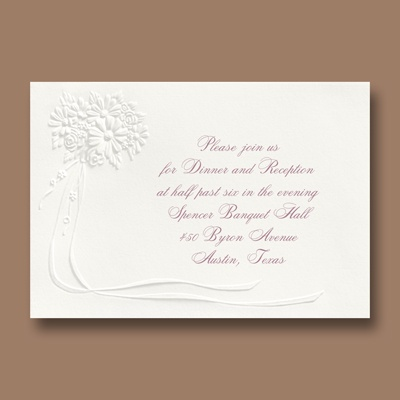 The Bouquet - Reception Card