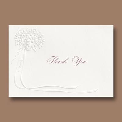 The Bouquet - Thank You Card and Envelope