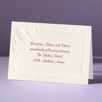 Romance at Full Bloom - Reception Card