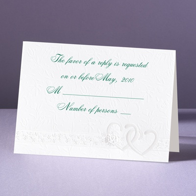 Hearts Desire - Response Card With Envelope