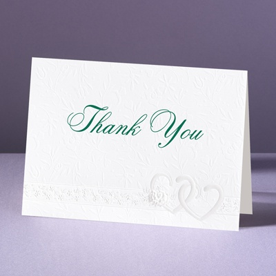 Hearts Desire - Thank You Card and Envelope