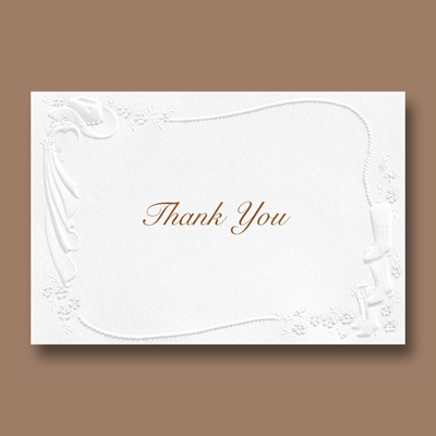 Western Fancy - Thank You Card and Envelope