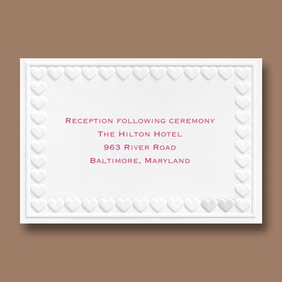 One in a Million - Reception Card