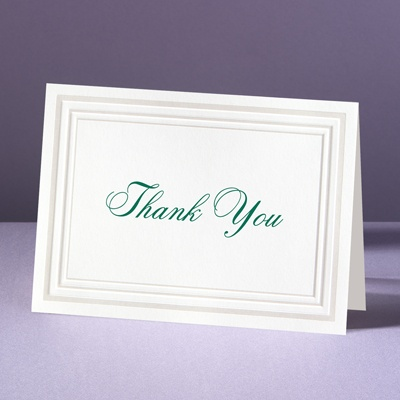 Elegant Pearl Borders - Thank You Card and Envelope