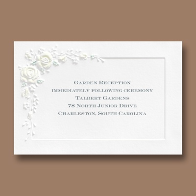 Forever Romantic - Reception Card