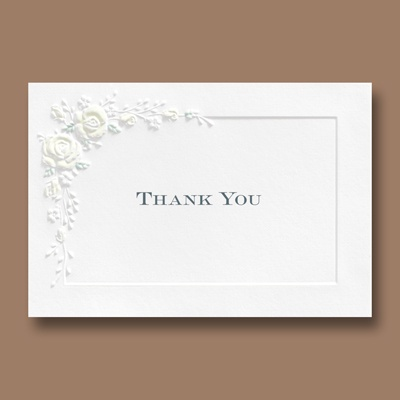 Forever Romantic - Thank You Card and Envelope