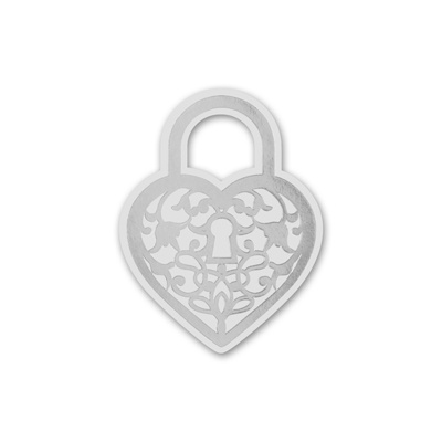 Heart Padlock - Silver - Wedding Seal