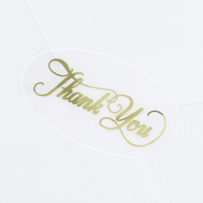 Seals - Oval Gold Thank You
