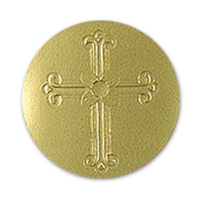 Gold Embossed Cross