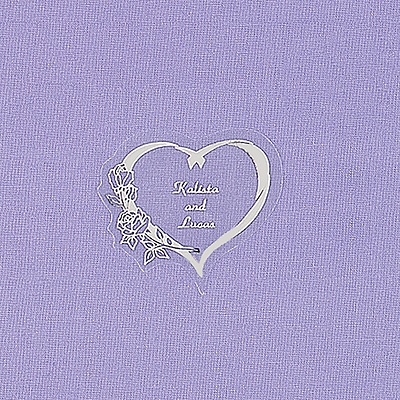 Silver Floral Heart Seal