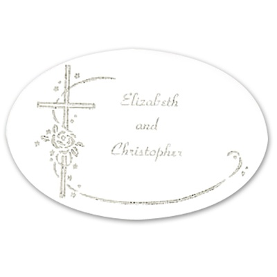 Silver Foil Cross Seal