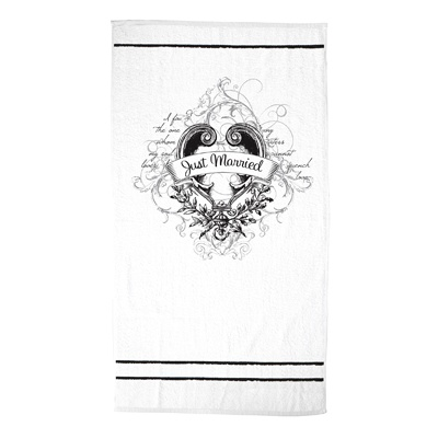 Just Married White Beach Towel