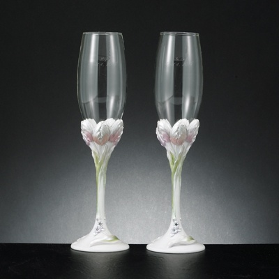 Spring Tulips Toasting Flutes