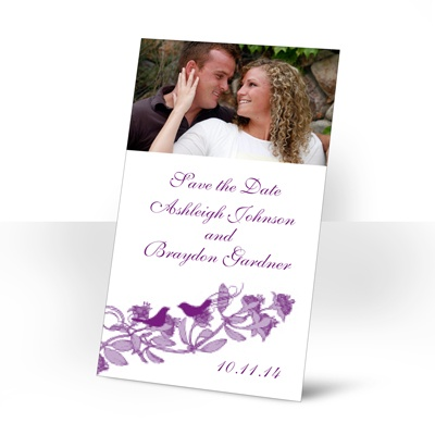 Love Birds - Grapevine - Photo Save the Date Magnet