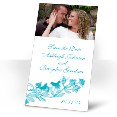 Love Birds -  Palm - Photo Save the Date Magnet
