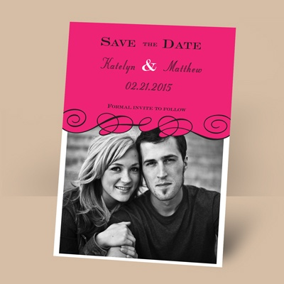 Beneath the Swirls - Lipstick - Photo Save the Date Magnet