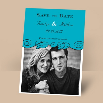 Beneath the Swirls - Palm - Photo Save the Date Magnet
