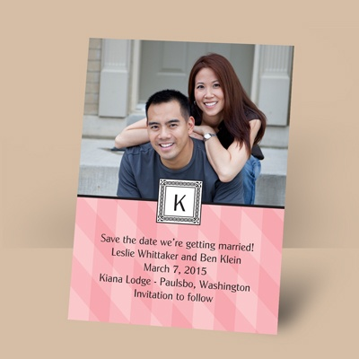 Pretty in Plaid - Petal - Photo Save the Date Magnet