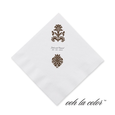 Clearly Refined - Chocolate - Cocktail Napkin
