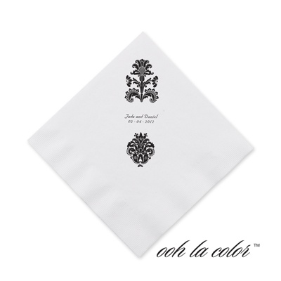 Clearly Refined - Ebony - Cocktail Napkin