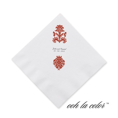 Clearly Refined - Scarlet - Cocktail Napkin