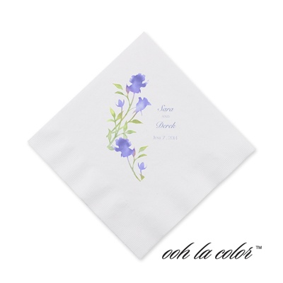 Watercolor Roses - Hydrangea - Cocktail Napkin
