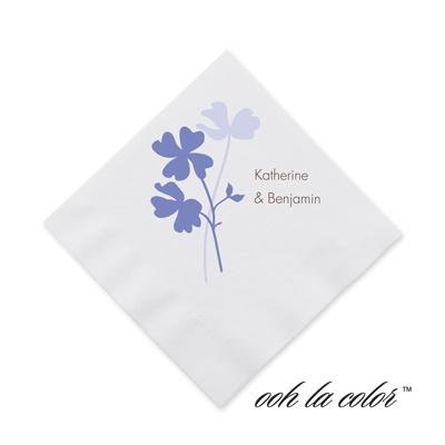 Floral Shadow - Hydrangea - Cocktail Napkin