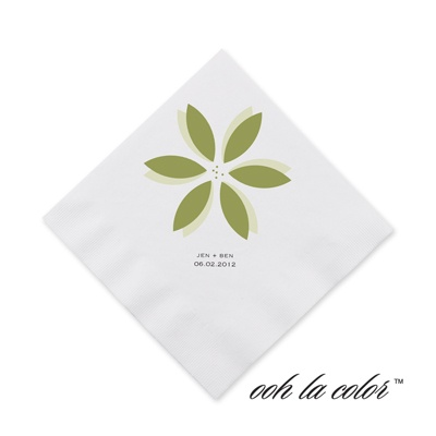 Floral Delight - Kiwi - Cocktail Napkin