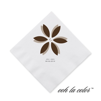 Floral Delight - Chocolate - Cocktail Napkin