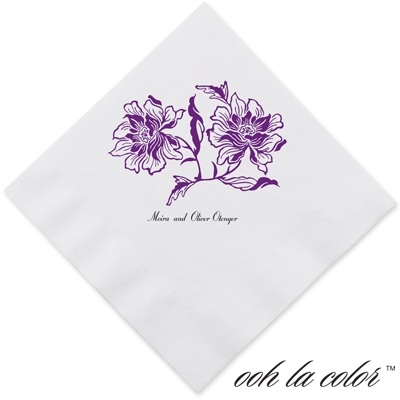 Flowers and Flourishes - Grapevine - Dinner Napkin