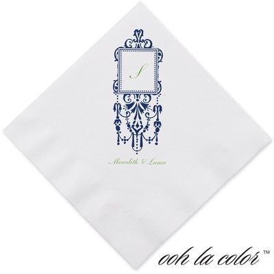 Framed Monogram - Eclipse - Dinner Napkin