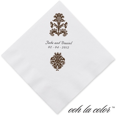 Clearly Refined - Chocolate - Dinner Napkin