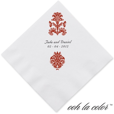 Clearly Refined - Scarlet - Dinner Napkin