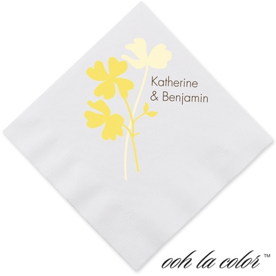 Floral Shadow - Canary - Dinner Napkin