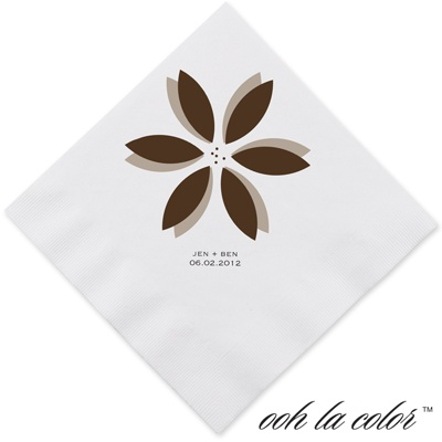 Floral Delight - Chocolate - Dinner Napkin
