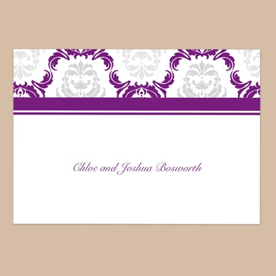 Damask Arches - Grapevine - Thank You Note Folder and Envelope