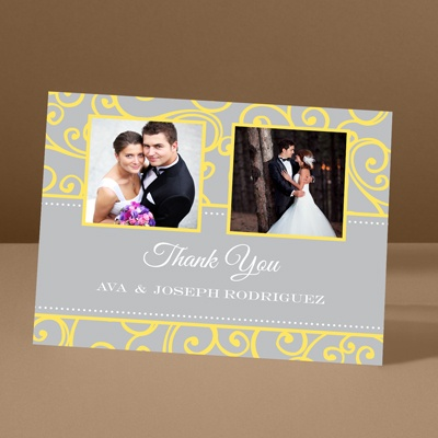 Sensational Swirls - Canary - Thank You Card and Envelope