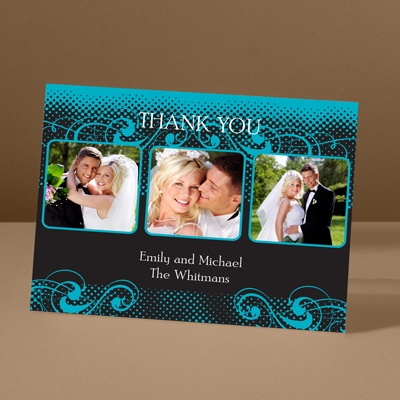 Photos and Flourishes - Palm - Photo Thank You Card and Envelope