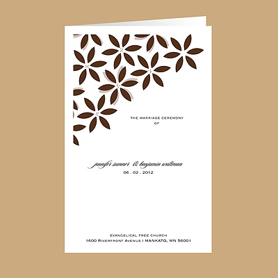 Floral Delight - Chocolate - Wedding Program