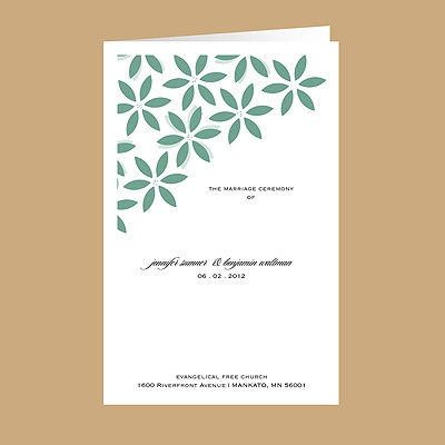 Floral Delight - Fern - DIY Wedding Program
