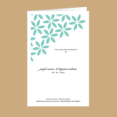 Floral Delight - Lagoon - Wedding Program
