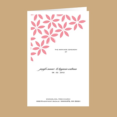Floral Delight - Petal - DIY Wedding Program