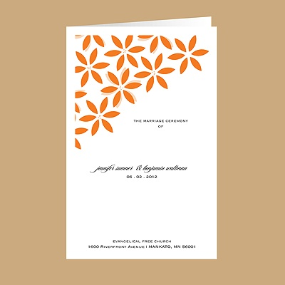 Floral Delight - Tangerine - DIY Wedding Program