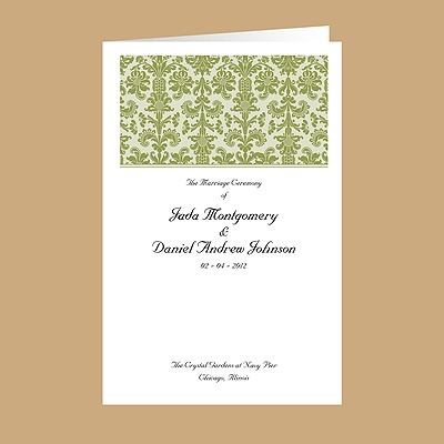 Clearly Refined - Kiwi - Wedding Program