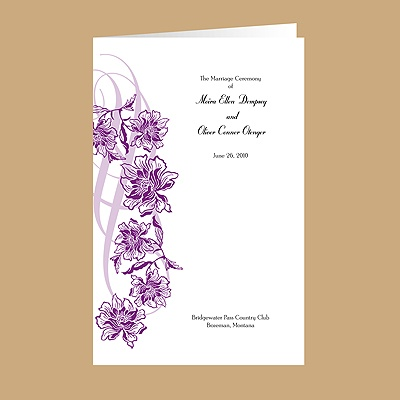 Flowers and Flourishes - Grapevine - Wedding Program
