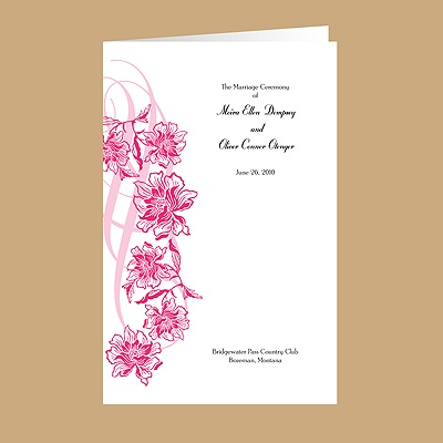 Flowers and Flourishes - Lipstick - DIY Wedding Program
