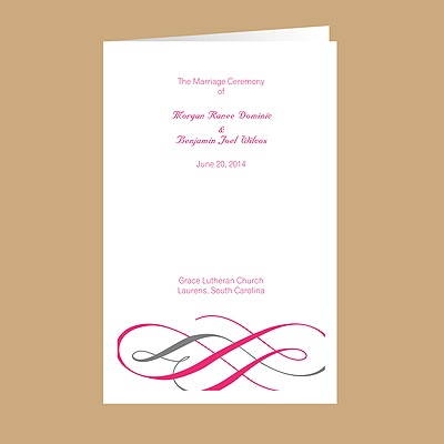Swirls of Color - Lipstick - Wedding Program