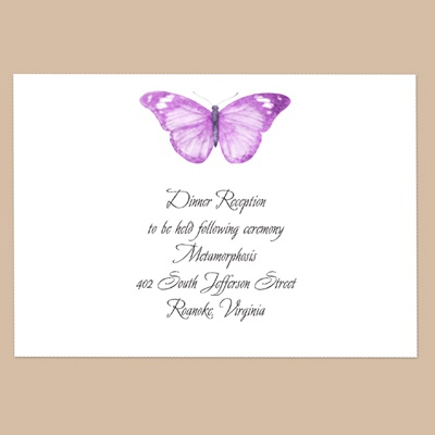 Butterfly in Grapevine - Reception Card